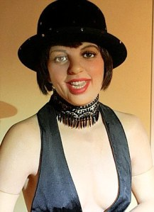From looking at this wax rendition of Liza Minnelli, those unfamiliar with Cabaret may think that she was a character from the Rocky Horror Picture Show. Seriously, she seems like she wants to kill you after she's completed her dance routine.