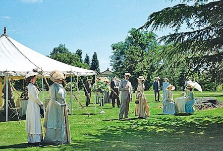Garden: At Downton Abbey, this is the place for the village vs. estate cricket match as well as the bazaar. Yet, during a garden party, it's customary that everyone dress in white and don't step on the flowers.