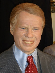 Good News: Actually looks better than the last Jimmy Carter waxwork I posted on here. Bad News: Seems to have a real great need for an exorcism. Seriously, he really looks evil.