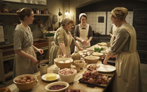 Kitchen: At Downton Abbey, this is where the food is prepared and  a lot of the downstairs drama takes place, other than in the Servant's Hall, naturally