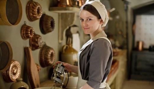 Undercook or Assistant Cook: At Downton Abbey, this is a job you give to a young woman who's complained about being a lowly scullery/kitchen maid for a good 8 years without being promoted. Also, had to go through a deathbed marriage with a dying soldier who once served as the second footman. Though she may someday get to run her father-in-law's farm.