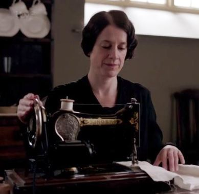 Seamstress: At Downton Abbey, this is an informal position given to the lady's maid who's brought her own sewing machine and could really operate one at that. Still, she also acts as the under butler's below the stairs spy through blackmail.