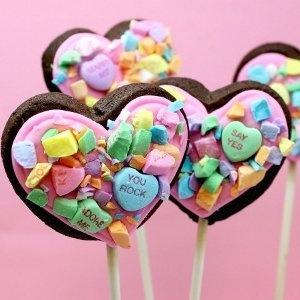 Then again, maybe the cake pops would taste better without the heart candies. I mean those things taste like a combination of sugar, chalk, and cough syrup.