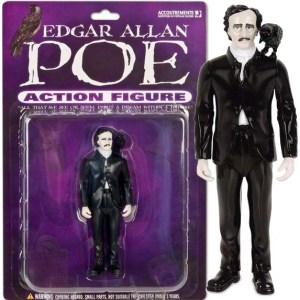 """Comes with his own raven that may or may not say """"Nevermore."""" Still, while best known for his tales of mystery and the macabre within American Romantic literature, was also said to invent the detective story. Available until found dead on a street in Baltimore in 1849."""