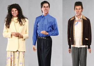 By looking at these terrifying waxworks of Elaine, Jerry, and Kramer, I dread seeing the one depicting George Costanza. That one must be the most horrifying of them all.