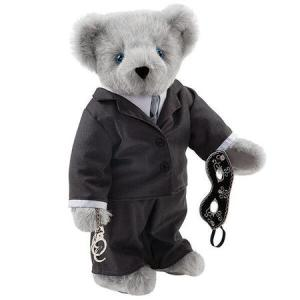 From what I've heard about the series (originally a Twilight fanfic), Christian Grey is supposed to be an abusive, controlling bastard.Thus, not cuddly at all, which makes this Teddy Bear all the more ironic. Even funnier is that he's actually gray.