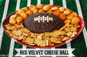 Can't believe this is my second chocolate chip covered cheese football I've posted already. Guess I have a thing for chocolate. Of course, nobody can have too much of that.