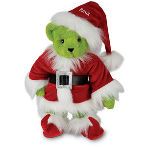 Of course, this is a Teddy Bear of the Grinch inspired by the Dr. Seuss story How the Grinch Stole Christmas. Nevertheless, this bear is just adorable at least more than the Grinch himself.