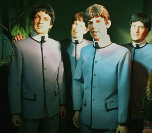 "Now I like the Beatles. Yet, these guys bear almost no resemblance to the real thing. In fact, I think these guys basically resemble lifeless zombies after your brains while singing. ""All you need is brains,/All you need is brains,/All you need is brains, brains, brains are all you need."""