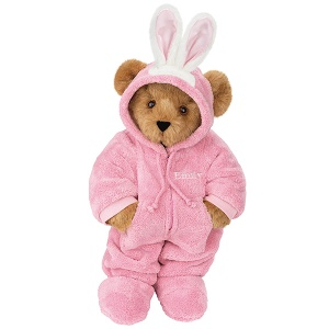 Of course, this could be a Teddy Bear hunting rabbits in a pink rabbit disguise but that's kind of far fetched. Still, it's pretty adorable.