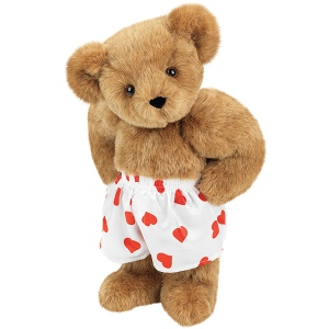 Of course, this adorable Teddy Bear doesn't look that bad in his little boxers. But I'm sure they help conceal his naughty bits if you know what I mean. Still, love how he seems so buffed up in them.