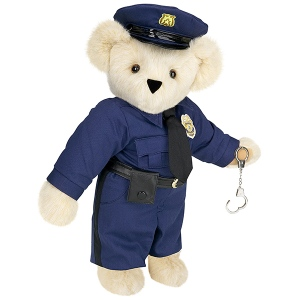 Of course, only a police Teddy Bear could be equipped with handcuffs and not seem to have anything ironic about it. Still, hope he doesn't go after any innocent black bears (then again, in my area the only bears around are black bears).