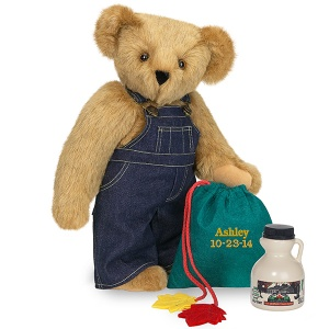 Unsurprisingly, this Teddy Bear is by the Vermont Teddy Bear Company, where maple syrup is one of the state's products. Still, wonder why the company doesn't have a Teddy Bear representing all 50 states.