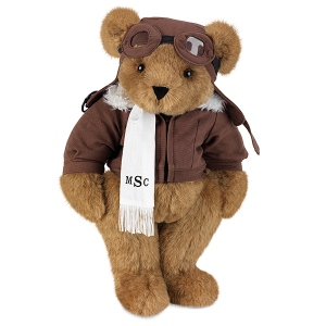 Of course, I know aviators today don't wear that kind of gear as much as they used to. Still, I think this Teddy Bear is so adorable anyway. Yet, I'm not sure if I'd want to fly on his plane though.