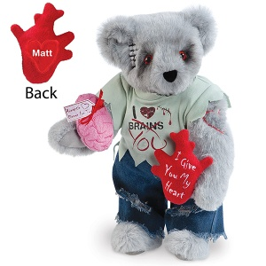 I don't know about you but I think this is probably a very funny Teddy Bear creation from the Vermont Teddy Bear Company. Sure he'll probably turn you into something mindless and undead, but he's so irresistible to say the least.