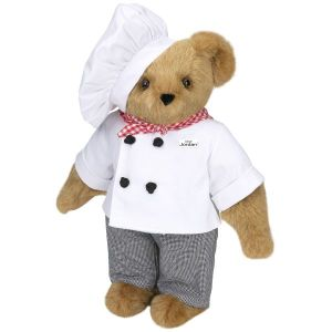 Now I bet that this bear chef cooks with all natural ingredients instead of stuff he found at somebody's camp site. Still, you have to love him in his little chef's outfit.
