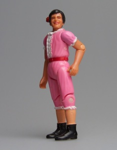 Wardrobe not included. Yes, guys, they made an toy of Klinger in drag. Still, it's actually the most popular toy from the series and goes for a pretty penny on eBay. Yet, imagine getting a toy depicting a guy in pink bloomers and a flower in his hair for your nephew. Yeah, that would be quite traumatic for some parents.