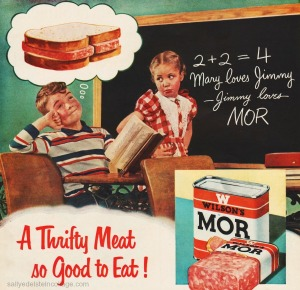 Of course, Mary loves Jimmy and she's very concerned for his well being and his meat sandwich fantasies. I mean we all know that eating processed salted meat isn't good for the cholesterol in the least. Also, it's disgusting.