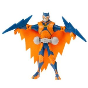 "From Topless Robot: ""It's logical enough that Batman would have some sort of flying apparatus, especially one for use at night, but it seems slightly counterintuitive to have that ""night glider"" be a day glow orange. He looks like a flying traffic cone, and the only people scared of those are driving students."" Yeah, I think Topless Robot certainly hit the nail on the head with that one."