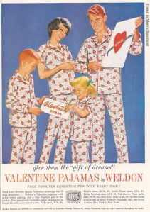 Now giving your significant other lame Valentine's Day PJs are one thing. But giving them for the whole family, who the fuck had that crazy idea? I'm sure young Billy would really appreciate getting printed hearts on his PJs for Valentine's Day. Of course, he'll probably never wear them again after this picture.