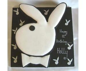 Jesus Christ! This is for a 12-year-old girl, which is just wrong. Seriously, now I have nothing against Holly having a bunny cake for her birthday. But a Playboy Bunny cake, well, that's just inappropriate on many levels.