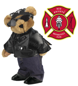 Now this bear looks adorably badass in his black leather, sunglasses, and denim. However, he forgot to follow one important lesson in safety which is to wear a helmet.