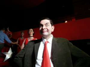 I wonder if those unfamiliar with Mr. Bean would look at this wax figure and assume he was in the same league with Jason Voorhees or Freddy Krueger. Perhaps they'd be relieved he's actually a Rowan Atkinson character who acts like a complete idiot.