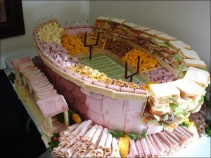 What my question about this stadium is: How the hell did they get the ham, graham crackers, and pastrami to stand up like that? Seriously, how did they do it?