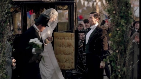 Coachman: At Downton Abbey, this guy doesn't get as much as he used to before the automobile but he's still employed for special occasions like weddings and funerals. You don't think they'd let Lady Mary and Matthew have to leave a church in a car, don't you?
