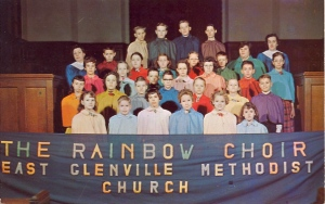 Of course, given that the Gay Rights Movement adapted the rainbow flag as its symbol, I don't think a church choir would call themselves, even if it's the United Methodist Church.