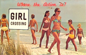Of course, the women at the Florida beach you actually see probably aren't as attractive as these ladies. Seriously, fellas, believing this postcard will set yourself up for disappointment.