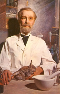 Yes, Louis Pasteur did help change the world for the better as well as saved so many lives with his research. But that doesn't stop him from testing his anthrax vaccine on his daughter's pet bunny rabbit.