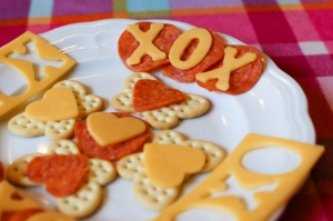 I like how they're used on the butterfly crackers. Also like how they have XOX in cheese and the heart shaped cheese and pepperoni.