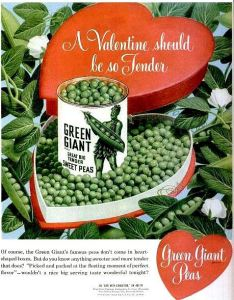 For some reason, receiving a heart shaped box of frozen peas doesn't seem nearly as romantic as getting a box of chocolate. Seriously, who wants peas for Valentine's Day for God's sake? Farmers?