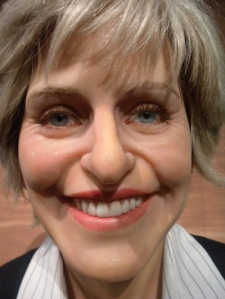 Now I know that Ellen is a comedian and talk show host who's not supposed to scare me. However, this rendition makes me want to look the hell away from her soulless eyes and her evil smile.
