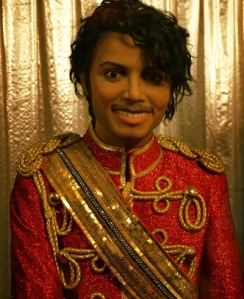 Yes, his majesty the King of Pop during the 1980s does carry a rather sinister demeanor. Of course, I wonder how many people my age could ever imagine that he's supposed to be Michael Jackson.