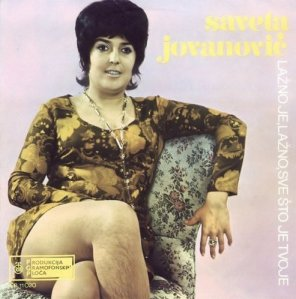 "This is from Yugoslavia, where I suppose the women had a different set of what I'd call, ""grooming habits,"" than in other countries during the 1960s. Of course, this would've just come off as just as another piece of tacky 1960s fashion but the Mrs. Bigfoot legs make it all the more memorable."