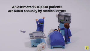 A 2014 stat by Vox that says about 201,000 Americans are killed every year due to medical errors that most healthcare providers try to avoid.
