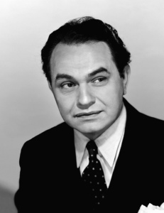 "Though his looks and short stature prevented him from becoming a romantic leading man, Edward G. Robinson achieved Hollywood greatness playing 1930s gangsters from Warner Bros. Yet, despite his onscreen persona and imitable New York accent, he was a sensitive soft spoken man who spoke 7 languages, collected fine art, and hated guns. Yet, when he's Little Caesar, he's best known for, ""Mother of mercy, is this the end of Rico?"" not, ""Pizza, Pizza."""