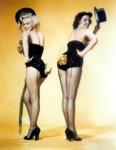 Marilyn Monroe and Jane Russell were among the biggest sex symbols of the 1950s. Of course, one was known for marrying Joe DiMaggio and Arthur Miller while the other was renown for her work in adoptions and being a star doing a cleavage scene.