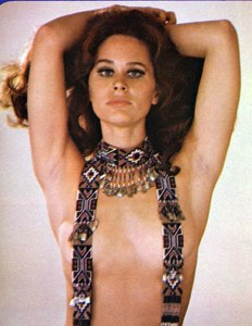 Yes, I know this picture is pushing it, but I've posted pictures of topless women before mostly in paintings. Yet, Karen Black  was busy actress, best known for her work in the 1970s, she also made a lot of horror movies.