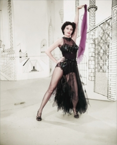 "Born Tula Ellice Finklea, Cyd Charisse adopted her stage name by using an alternative spelling of her brother's nickname for her which was a mispronunciation of ""Sis"" and the surname of her first husband Nico. Also known for her long legs."