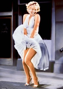 The Seven Year Itch was a famous movie for Marilyn Monroe. Mainly because it featured her skirt blowing from the air vent on the street which cause quite a stir at the time. For awhile, there was also a huge statue of this in Chicago.