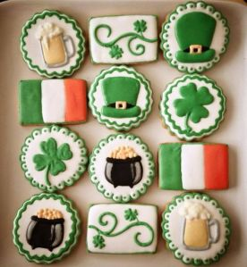 Eh, I'm not sure if you'd want beer on a Saint Patrick's Day cookie, especially if your party has kids around. Just saying.