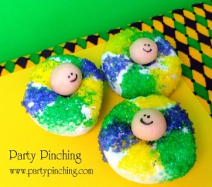 I'm not sure about the little face in the donuts are about. Yet, these are sure cute that your kids will certainly enjoy them, even though they may be too young to take part in the other festivities.