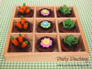 Now the chocolate content is fine. Of course, the flowers aren't usually planted with the carrots and lettuce.