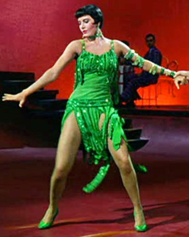 Though taller than some of her leading men, Cyd Charisse was a staple of movie musicals throughout the 1940s and 1950s as well as appeared alongside Gene Kelly and Fred Astaire.
