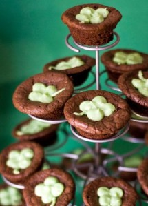 It's ingenious on how the shamrocks are sort of green. Yet, I love the chocolate brownie part of them more.
