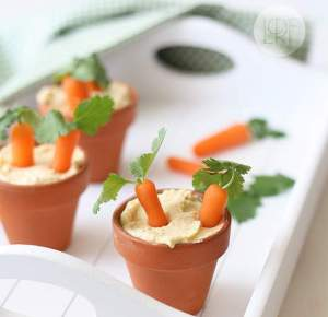 Of course, I'm not sure where anyone can get flower pots like that so small. Yet, make sure that the hummus doesn't cause a leak if those pots are from a garden store.
