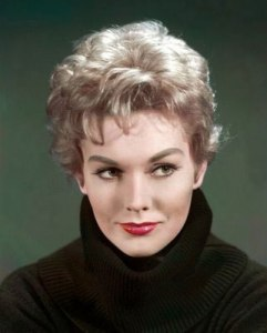 Kim Novak was a leading sex symbol of the 1950s with her deep voice, blond hair, and good looks. Unfortunately, when viewing her movies, it's very clear that studios and critics loved her just for her looks because she has a similar range in her movies as Kristen Stewart.